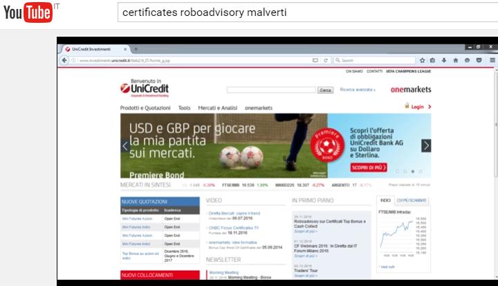 Roboadvisory sui Certificati: webinar il 19 Gennaio