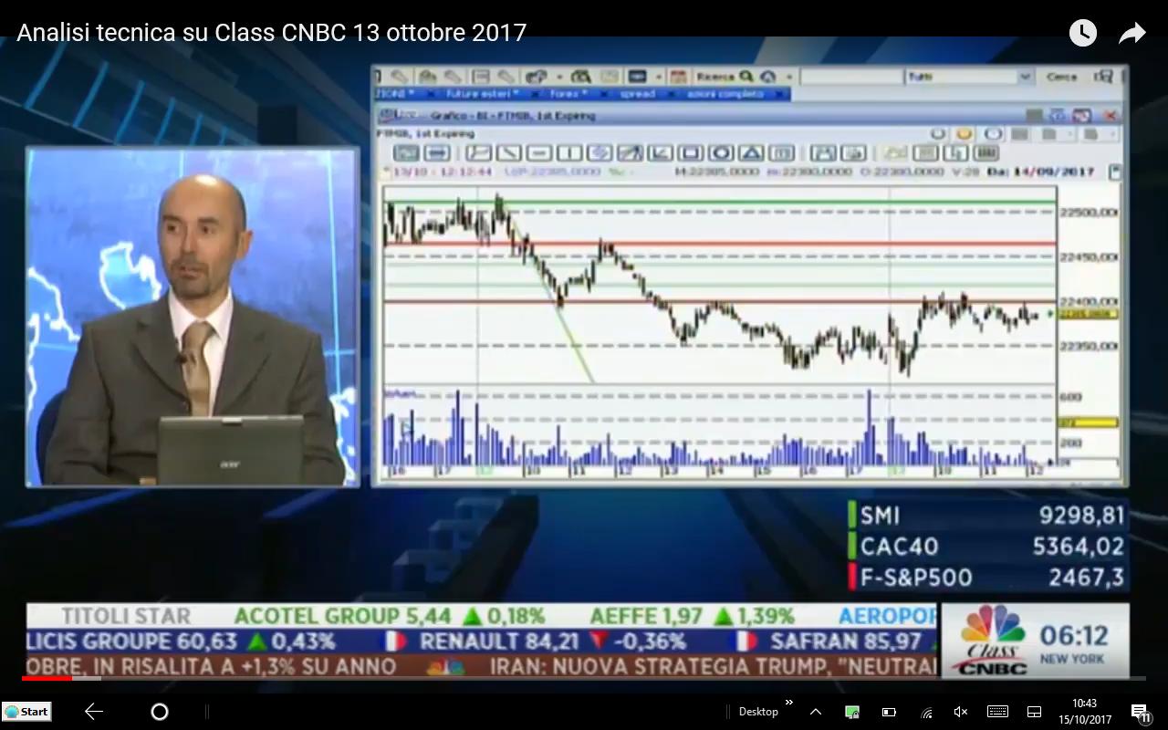 Analisi tecnica Class CNBC 13 ottobre17